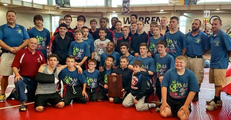 2015 Schoolboy National Duals Greco-Roman Champions - Team Pennsylvania Red (Photo From Steve Mytych)